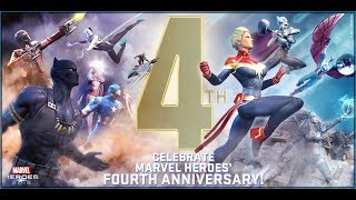 Mark the 4th Anniversary of Marvel Heroes!