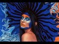 High Fashion Blue and Orange Makeup | Avant-Garde Beauty Photoshoot | Behind the Scenes