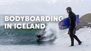 Bodyboarding The Waves Of Iceland