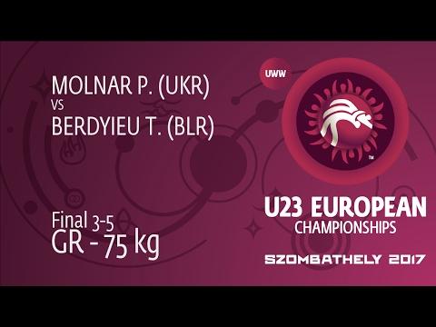 BRONZE GR - 75 kg: T. BERDYIEU (BLR) df. P. MOLNAR (UKR), 0-0