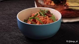 Запеченные спагетти в томатном соусе в духовке | Макароны с фаршем и брынзой