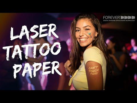 Laser Tattoo Paper | Versatile. Removable. Creative.