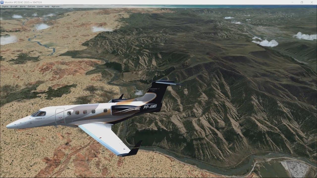 FSX & ProAtc/X Flights KEGE to KDEN Embraer Phenom 300