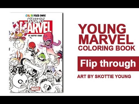 Color Your Own Young Marvel Coloring Book Flip Through Artwork by ...