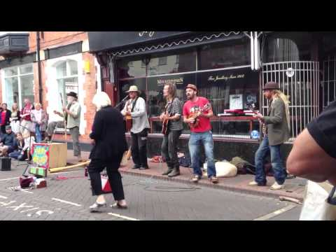 PHAT BOLLARD - We want your money -  Sidmouth Folk week 2013