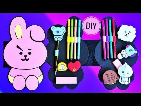 8 DIY BTS BT21 SCHOOL SUPPLIES For Back To School | DIY Kpop