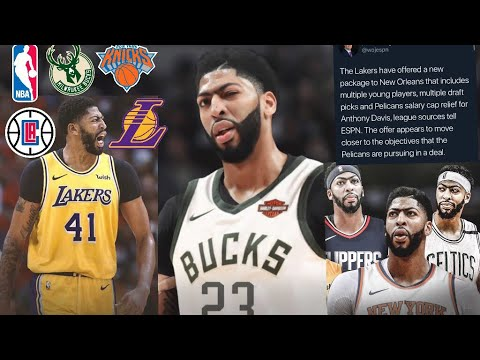 NEW ANTHONY DAVIS TRADE RUMORS!! GOING TO BUCKS?? LAKERS NEW DEAL?? CLIPPERS???