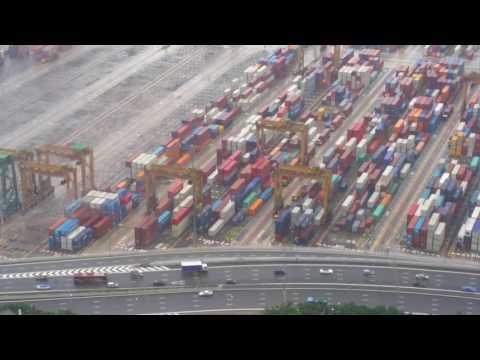 Singapore port and ecp express way
