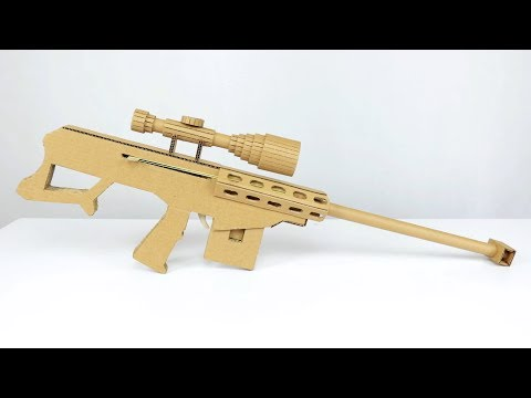 How To Make Sniper Rifle Model from Cardboard