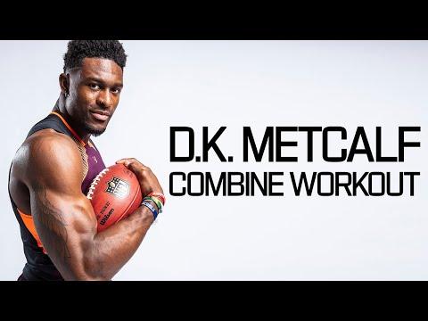 D. K. Metcalf's Ridiculous Batman Level Workout! | 2019 NFL Combine Highlights