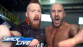 The Bar celebrate a big victory en route to WWE Super Show Down: SmackDown Exclusive, Sept. 18, 2018
