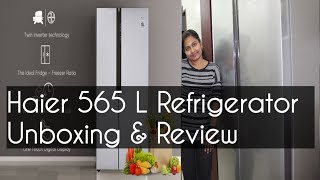 Haier 565 L Side By Side Refrigerator Unboxing amp Review Amazon Great Indian Sale Haier Flipkart