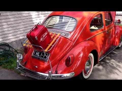 Volkswagen beetle 1964 with accessories Coca-Cola