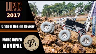 critical design review mars rover manipal urc 2017