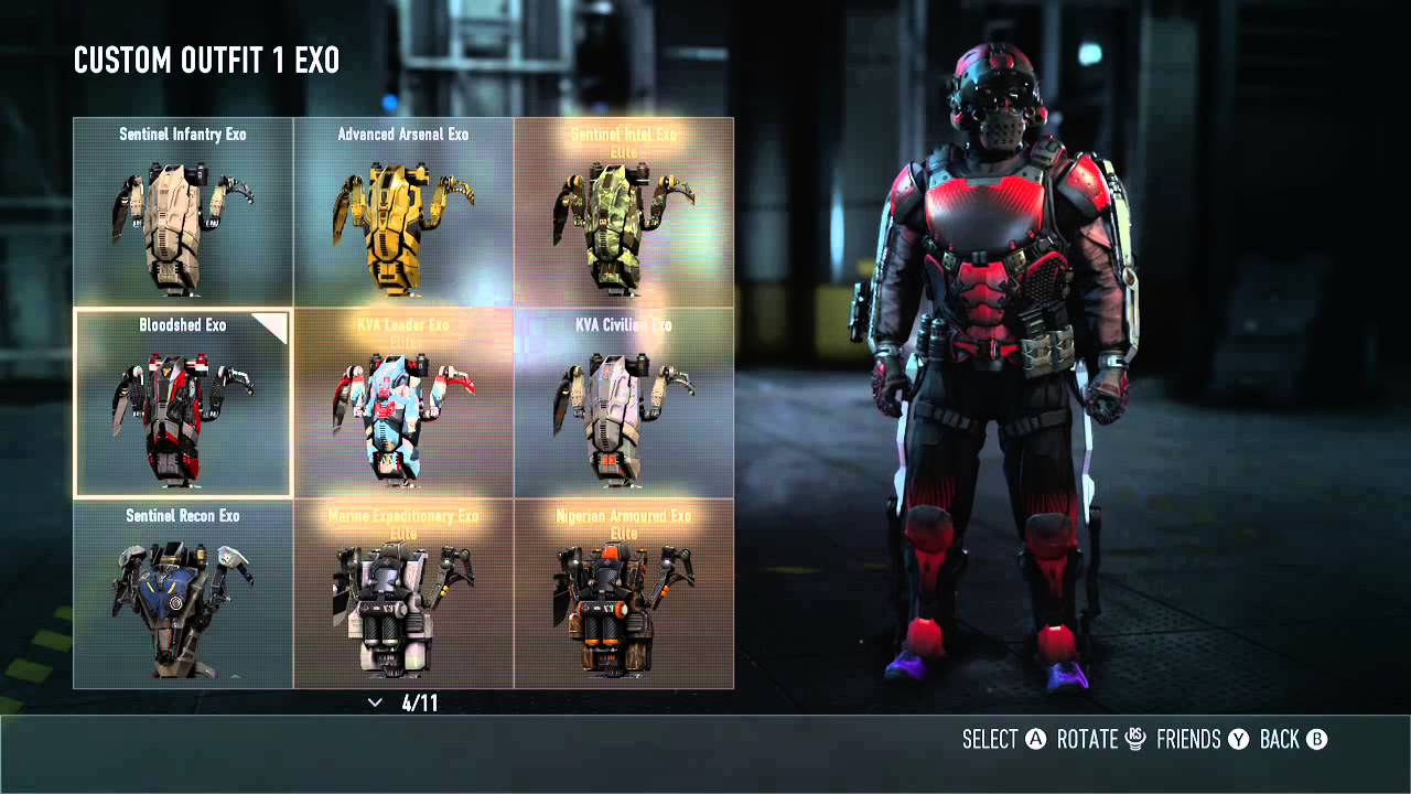 Call of duty 174 advanced warfare full bloodshed armour set youtube