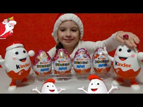 Frozen Kinder surprise eggs toys Киндер сюрприз игрушки распаковка video for kids