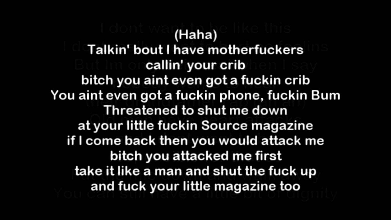 Eminem Nail In The Coffin Benzino Diss HQ & Lyrics - YouTube