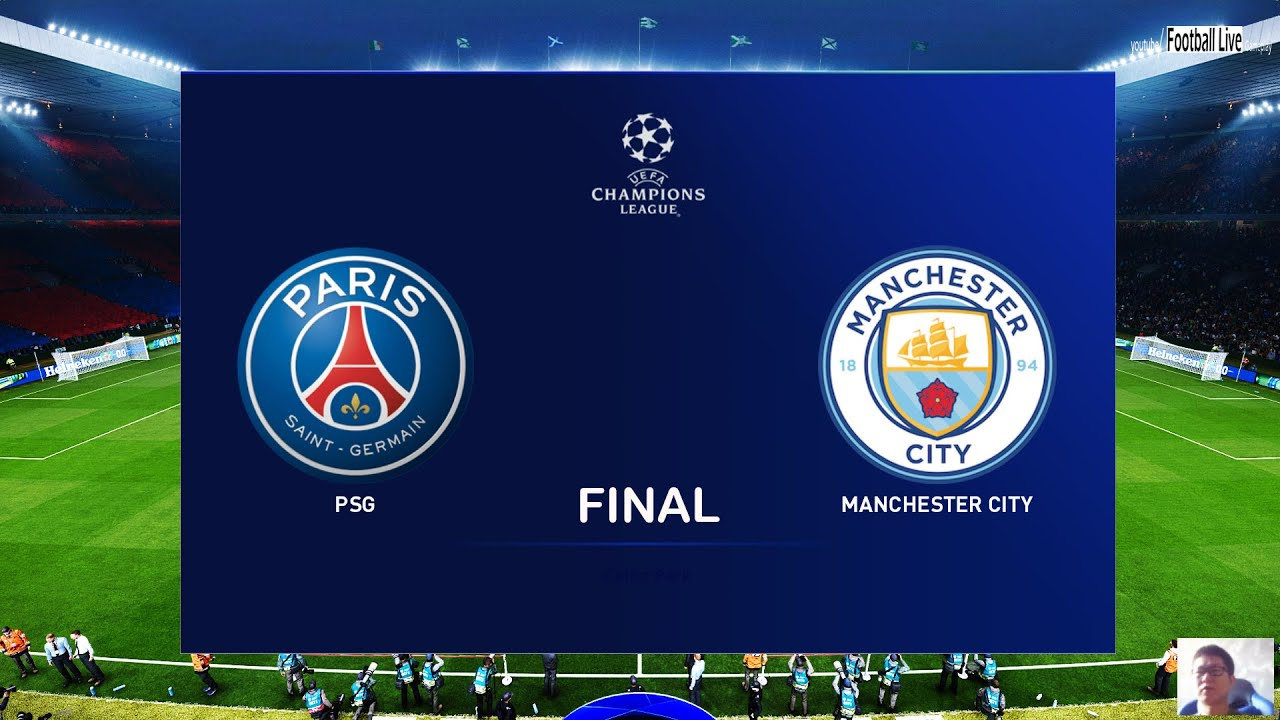 PES 2020 | PSG Vs Manchester City | Final UEFA Champions League UCL |  Gameplay PC - YouTube