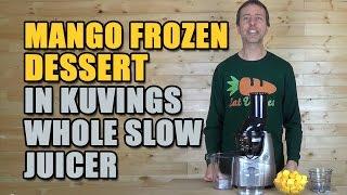 Kuvings Whole Slow Juicer B6000S Mango Frozen Dessert