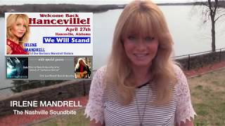 IRLENE MANDRELL TO PLAY HANCEVILLE, ALABAMA APRIL 27