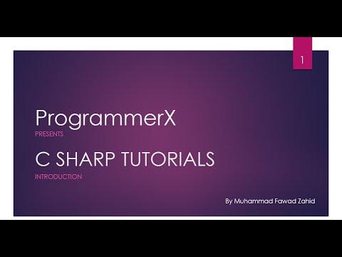 C SHARP - C# Tutorial on Visual Studio in Urdu/Hindi - Part1 Introduction - By ProgrammerX