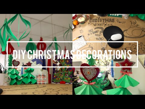 diy christmas decorations how to make paper christmas trees and decorations christmas work desk