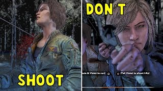 Violet Shoots vs Don't Shoot Lilly - All Choices - The Walking Dead The Final Season Episode 2