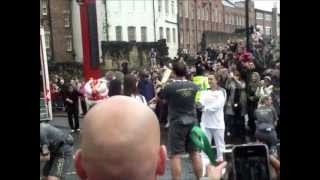 Olympic torch in Newcastle upon Tyne, China Town.wmv