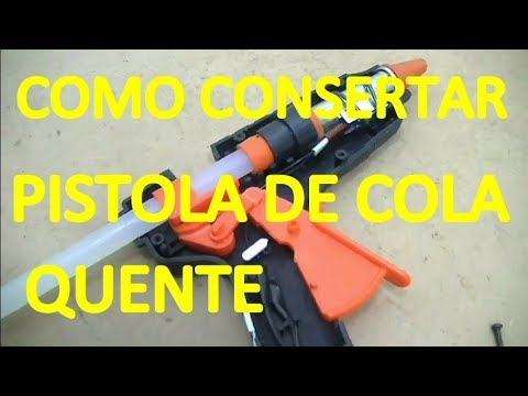 Como Consertar Pistola De Cola Quente Com Gatilho Quebrado