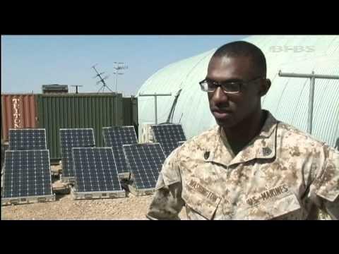 US Marines harness solar power 16.04.12
