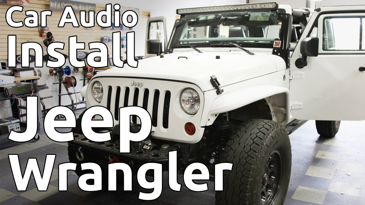 2012 Jeep Wrangler W Roll Cage Speaker Amp Amplifier