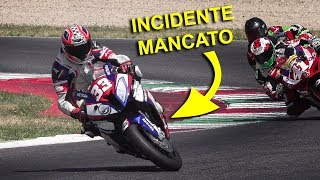 CRASH HIGHSIDE O MIRACOLO IN MOTO? - BMW E YAMAHA 1000 GP ITALIA  2017