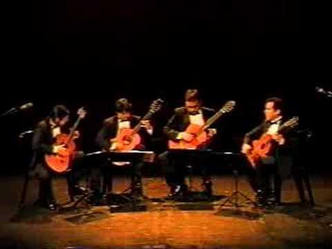 aranjuez guitar quartet - simpsons theme