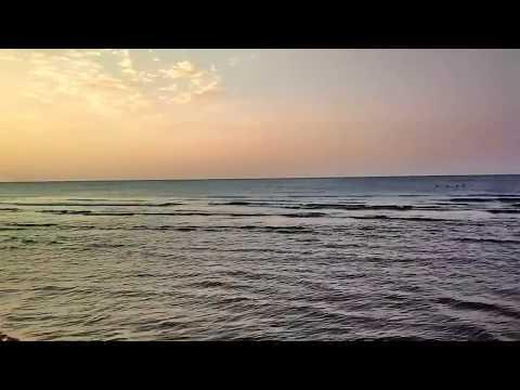 Вечерний пляж, закат  . . Evening beach, sunset. 09-09-2017
