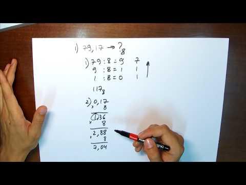 Как перевести число в восьмеричную систему
