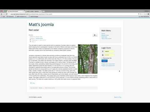 Joomla - Menu Items And Positions
