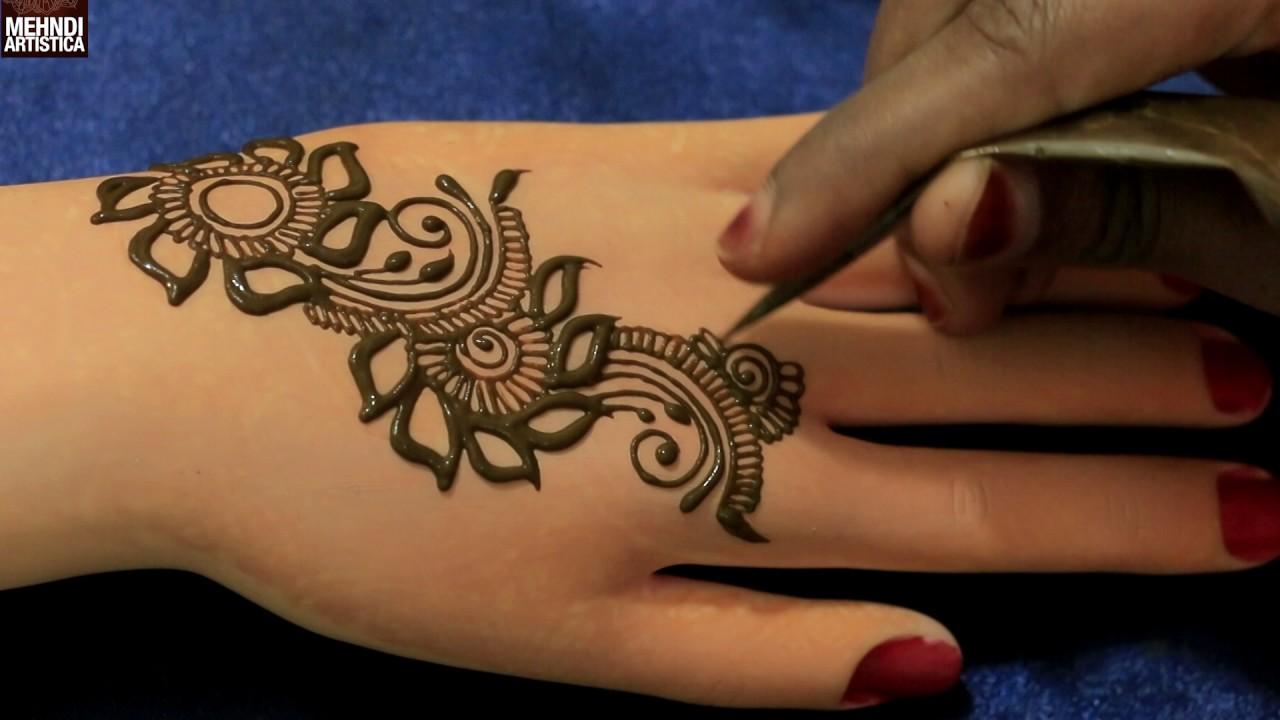Mehndi Tattoo Designs: Marigold Floral Easy Simple Gulf Henna Mehndi Designs