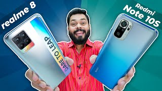 realme 8 vs Redmi Note 10S Full Comparison | Best Phone Under 15K Is ⚡ Camera, Display & More