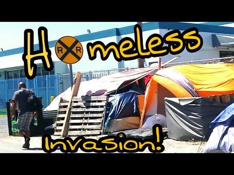 Homeless Living on Train Tracks 2