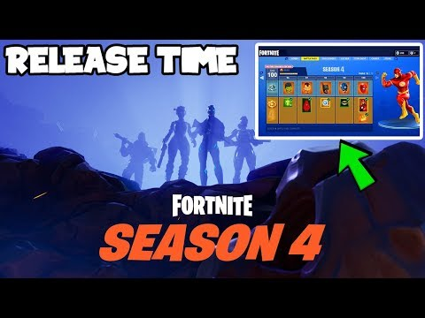 *NEW* Fortnite: Season 4 Release Time CONFIRMED! *NEW OFFICIAL LEAKS FOR SEASON 4* (Exact Time)