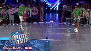 Ping Pong Plop | Minute To Win It - Last Tandem Standing