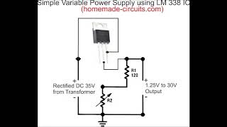 v2Movie : LM317 LM338 LM350 shortcircuit indicator