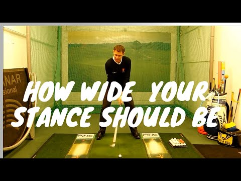 How wide your stance should be for the golf swing – Mark Wood Golf Academy