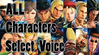 STREET FIGHTER 5 ALL CHARACTERS  SELECT ( Jap & Eng ) 1080P Full HD 60fps