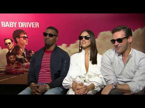 Jon Hamm, Jamie Foxx & Eiza González are OBSCENELY cool in their Baby Driver shades