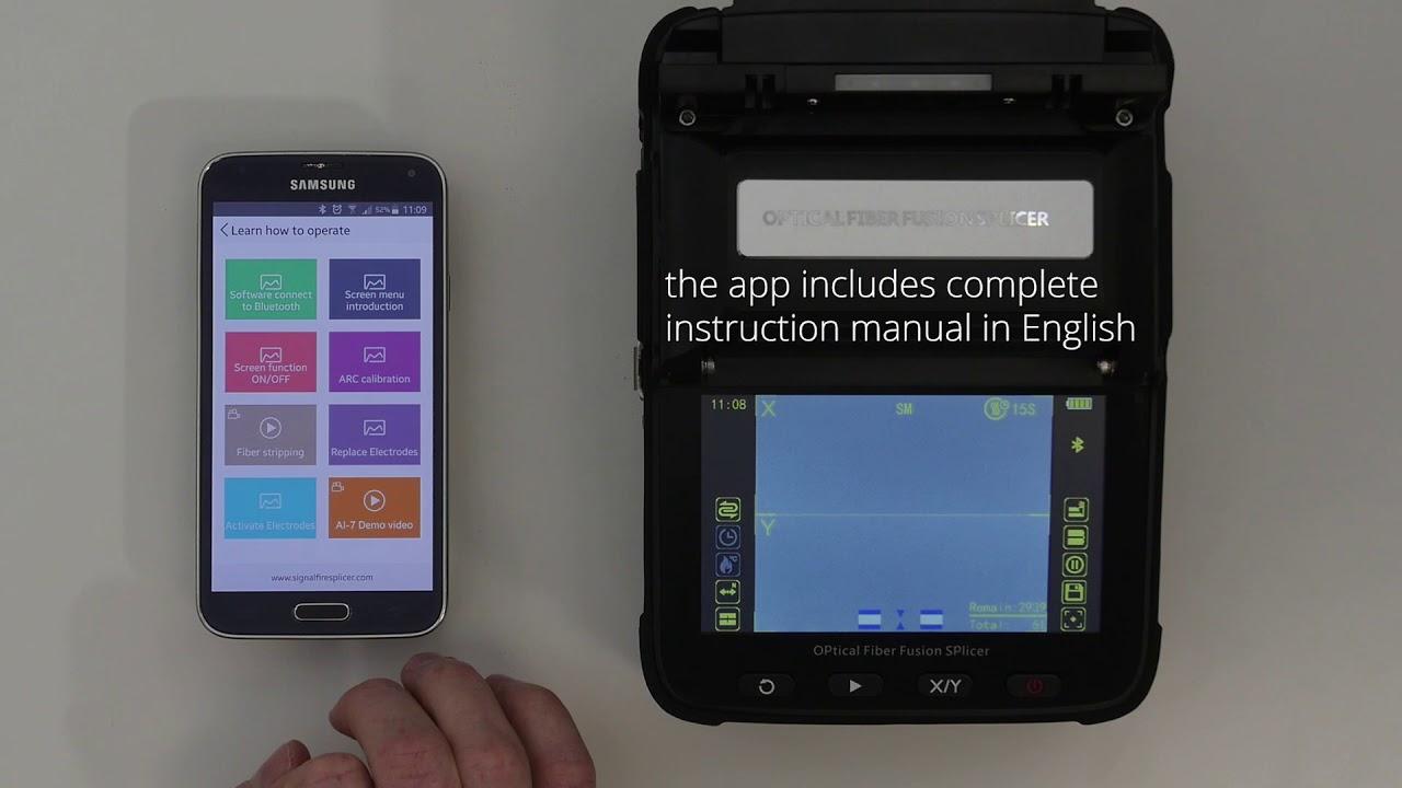 Signal Fire Fusion Splicer Youtube Ai 7 Automatic Intelligent Optical Fiber