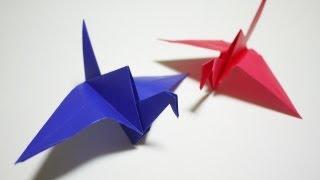 カラスの折り方 - How To Make An Origami Crow[折り紙 おりがみ Origami]