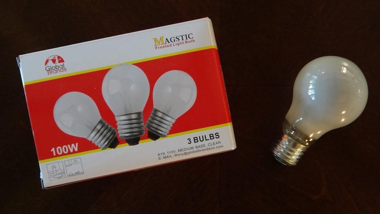 Global Brands 100watt Frosted Incandescent Light Bulbs