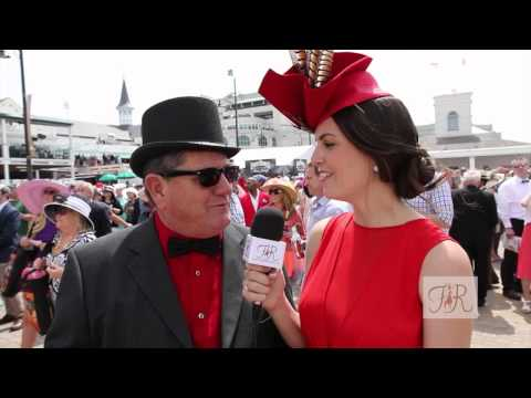 Fashion at the Races chats up a Louisiana Fan's for his First KY Derby