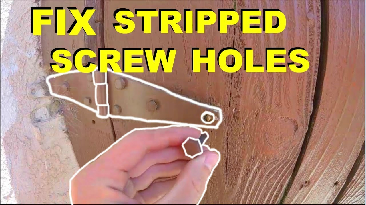 How To Fix Stripped Wood Screw Holes In Doors, Hinges, Anything!  Jonny DIY
